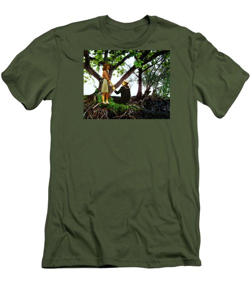 One Moment In Paradise Men's T-Shirt (Slim Fit) by Timothy Bulone