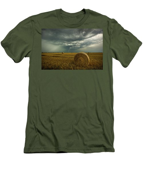 Men's T-Shirt (Athletic Fit) featuring the photograph One More Time A Round by Aaron J Groen