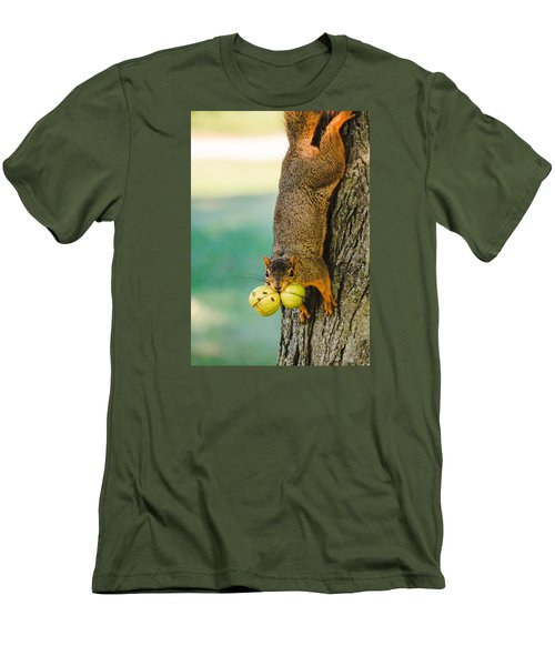 One Nut Is Never Enough Men's T-Shirt (Slim Fit)