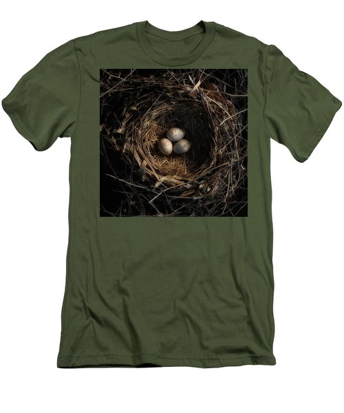 Men's T-Shirt (Slim Fit) featuring the photograph One Of The Most Private Things In The World Is An Egg Until It Is Broken Mfk Fisher by Mark Fuller