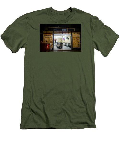 Open Restaurant In Lima, Peru Men's T-Shirt (Athletic Fit)