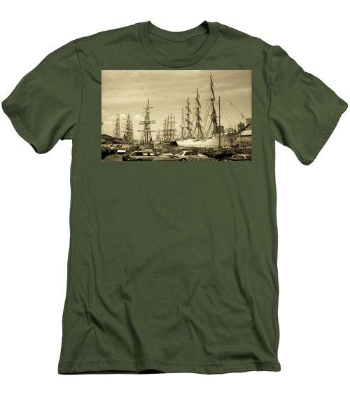 Operation Sail 1992 Brooklyn Men's T-Shirt (Slim Fit) by John Schneider