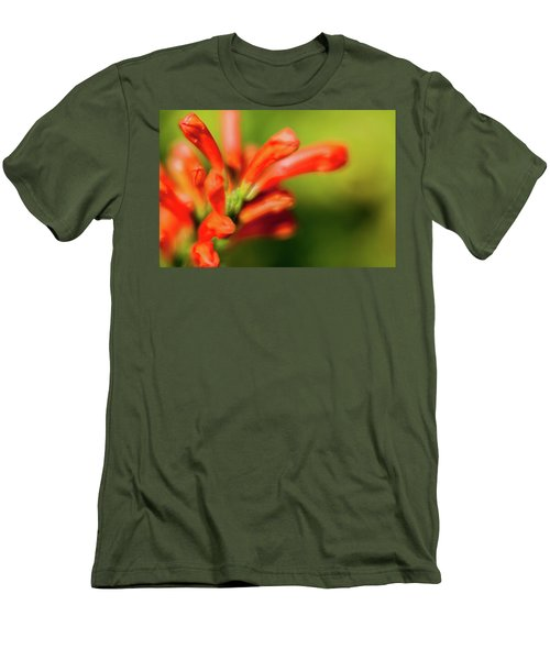 Orange And Green Men's T-Shirt (Athletic Fit)