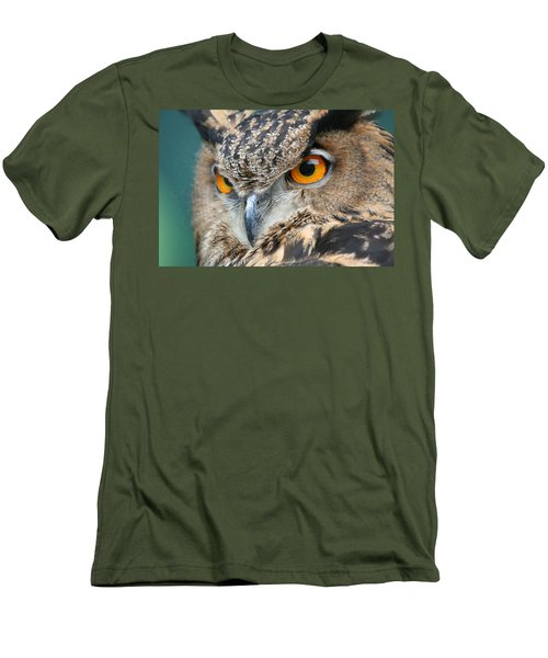 Men's T-Shirt (Slim Fit) featuring the photograph Orange Crush by Laddie Halupa