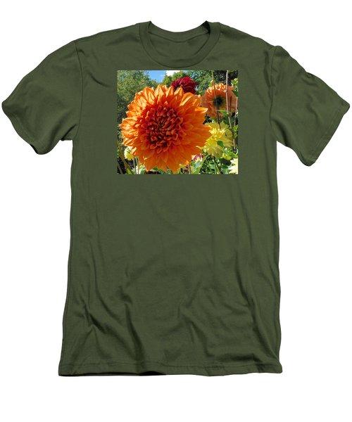Orange Dahlia Suncrush  Men's T-Shirt (Athletic Fit)