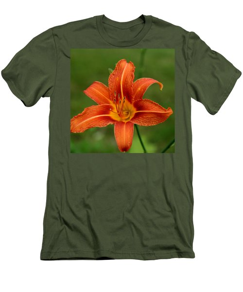 Orange Day Lily No.2 Men's T-Shirt (Slim Fit)