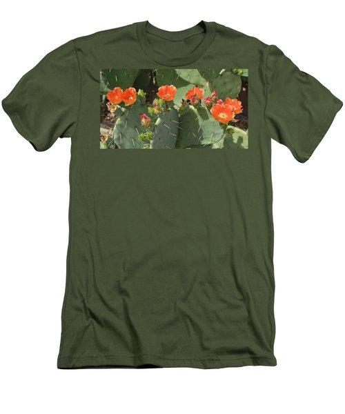 Orange Dream Cactus Men's T-Shirt (Athletic Fit)