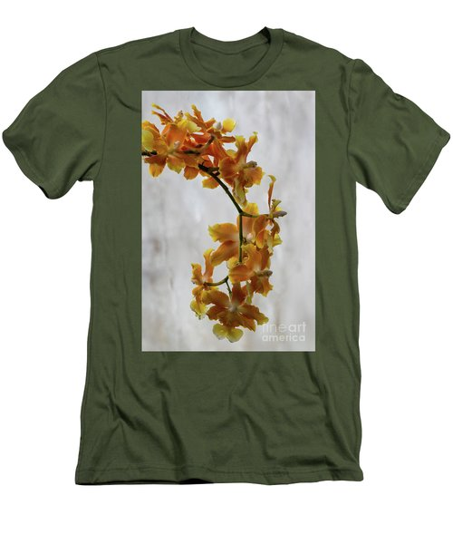 Men's T-Shirt (Slim Fit) featuring the photograph Orange Orchids by Darleen Stry