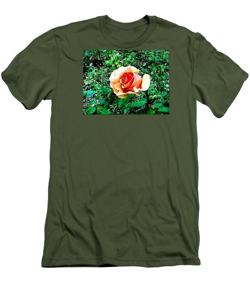 Men's T-Shirt (Slim Fit) featuring the photograph Orange Rose by Sadie Reneau