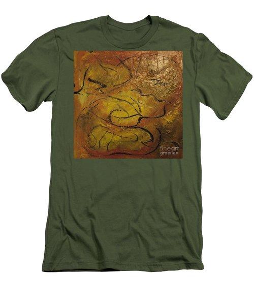 Orange Souffle Men's T-Shirt (Slim Fit) by Gallery Messina