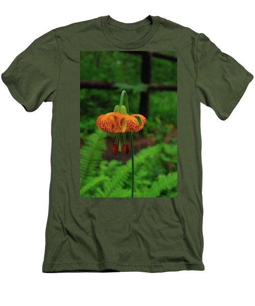 Men's T-Shirt (Athletic Fit) featuring the photograph Orange Tiger Lily by Tikvah's Hope