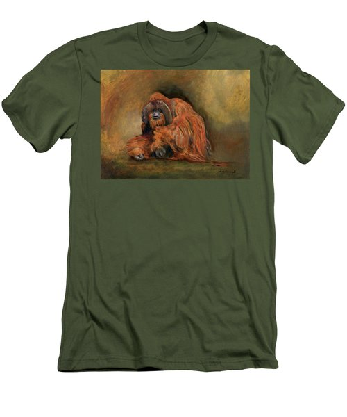 Orangutan Monkey Men's T-Shirt (Athletic Fit)
