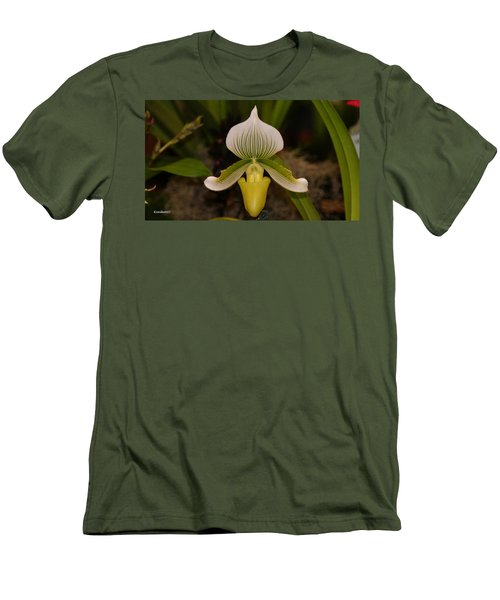 Orchid Flower 42 Men's T-Shirt (Athletic Fit)