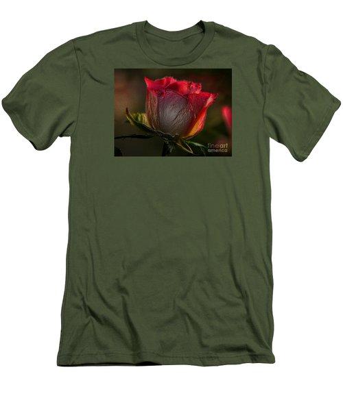 Organic Rose Men's T-Shirt (Athletic Fit)