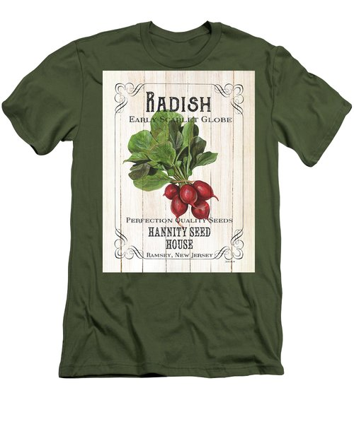 Men's T-Shirt (Slim Fit) featuring the painting Organic Seed Packet 3 by Debbie DeWitt