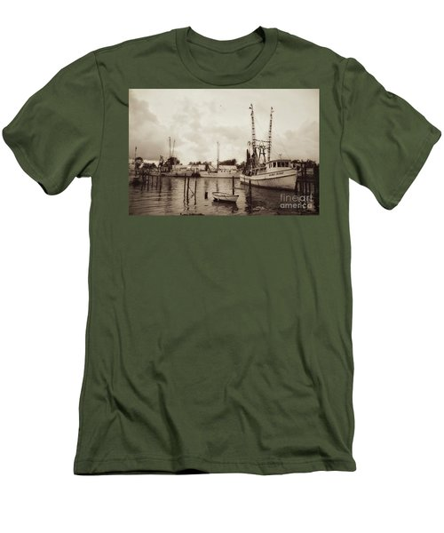 Men's T-Shirt (Slim Fit) featuring the photograph Oriental Harbor by Benanne Stiens