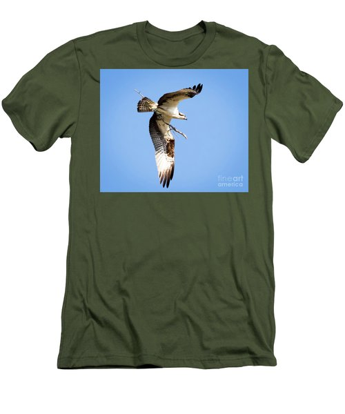 Men's T-Shirt (Athletic Fit) featuring the photograph Osprey In Flight by Ricky L Jones