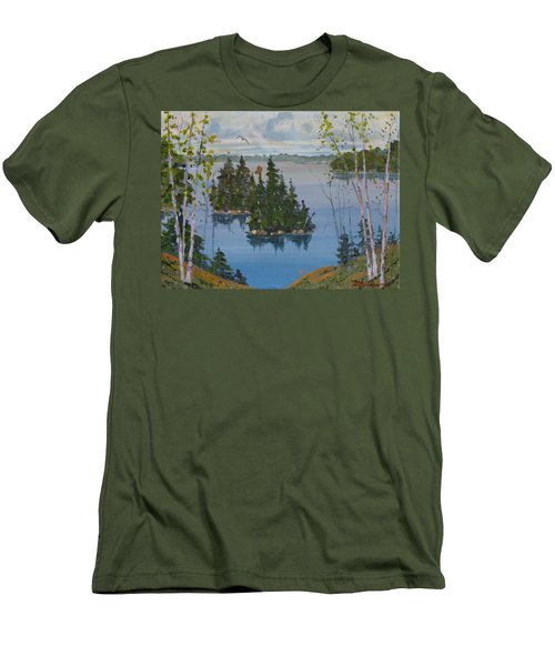Osprey Island Study Men's T-Shirt (Athletic Fit)
