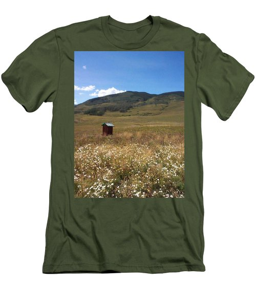 Men's T-Shirt (Slim Fit) featuring the photograph Out House by Mary-Lee Sanders