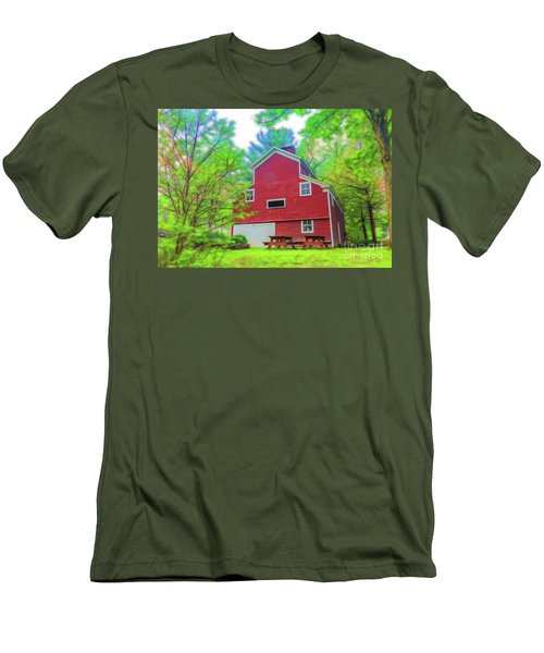 Out In The Country Men's T-Shirt (Slim Fit) by Jim Lepard