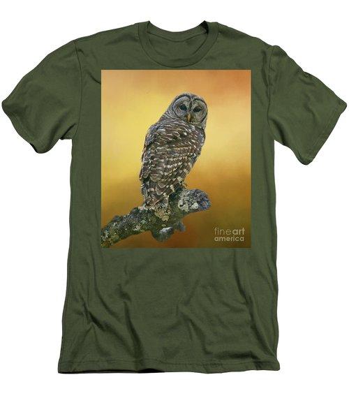 Out On A Limb Men's T-Shirt (Slim Fit) by Myrna Bradshaw