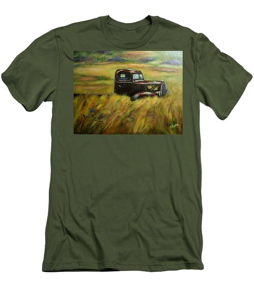 Out To Pasture Men's T-Shirt (Slim Fit) by Gail Kirtz