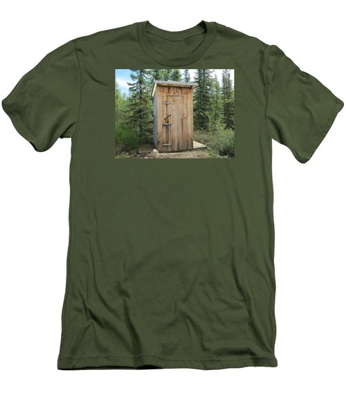 Outhouse  Men's T-Shirt (Slim Fit) by Lucinda VanVleck