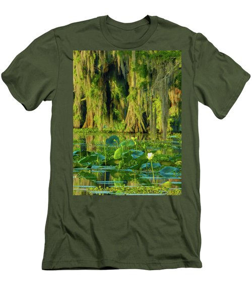 Outstanding Lotus Men's T-Shirt (Slim Fit) by Kimo Fernandez