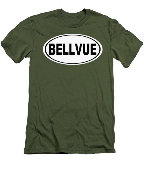 Men's T-Shirt (Slim Fit) featuring the photograph Oval Bellvue Colorado Home Pride by Keith Webber Jr