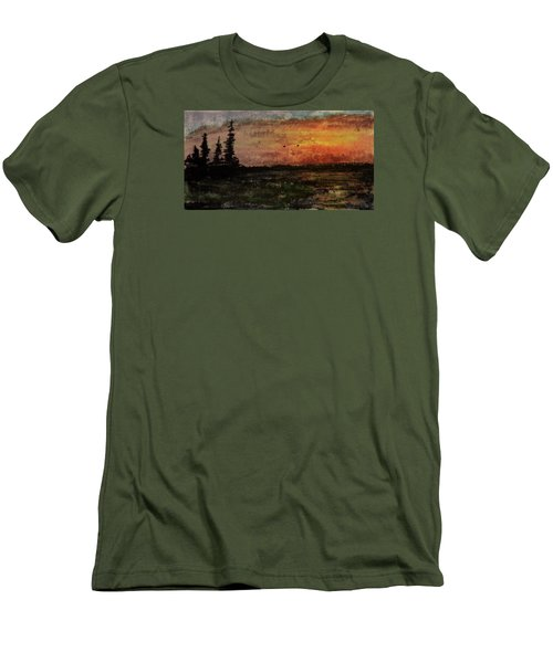 Over Nowhere North Men's T-Shirt (Slim Fit) by R Kyllo