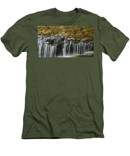 Men's T-Shirt (Slim Fit) featuring the photograph Over The Edge by Alana Ranney