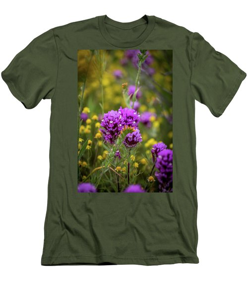 Men's T-Shirt (Slim Fit) featuring the photograph Owl's Clover by Peter Tellone