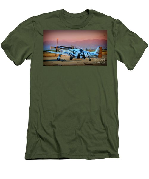 P-51d Mustang 'dakota Kid II. The Long Island Kid' And Casey Odegaard Men's T-Shirt (Athletic Fit)