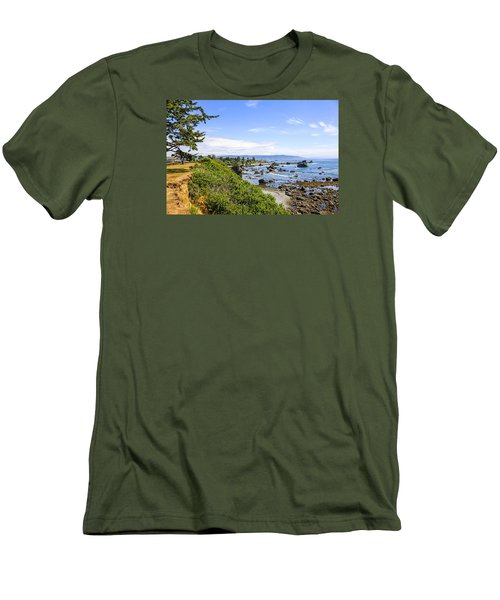 Pacific Coastline In California Men's T-Shirt (Slim Fit) by Chris Smith