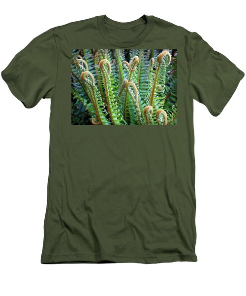 Men's T-Shirt (Slim Fit) featuring the photograph Pacific Ferns by Martin Konopacki