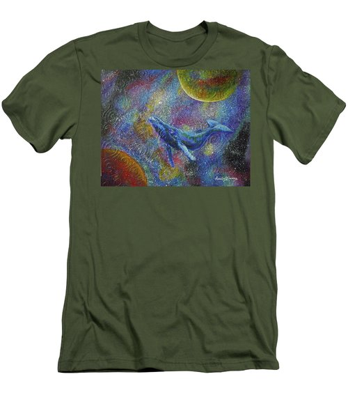 Pacific Whale In Space Men's T-Shirt (Athletic Fit)