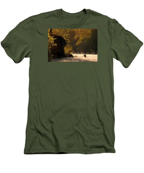 Paddling In Autumn Men's T-Shirt (Slim Fit) by Robert Charity