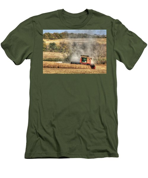 Page County Iowa Soybean Harvest Men's T-Shirt (Athletic Fit)