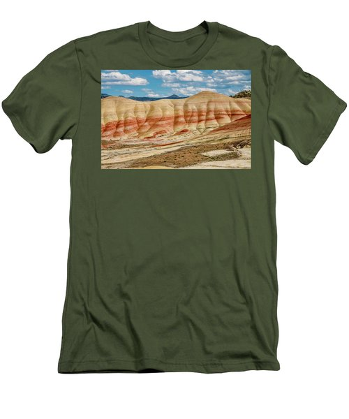 Men's T-Shirt (Slim Fit) featuring the photograph Painted Hills And Afternoon Sky by Greg Nyquist