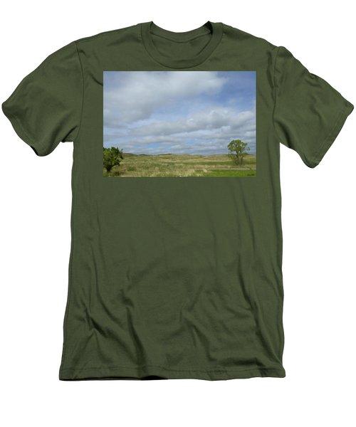 Men's T-Shirt (Slim Fit) featuring the photograph Painted Plains by JoAnn Lense