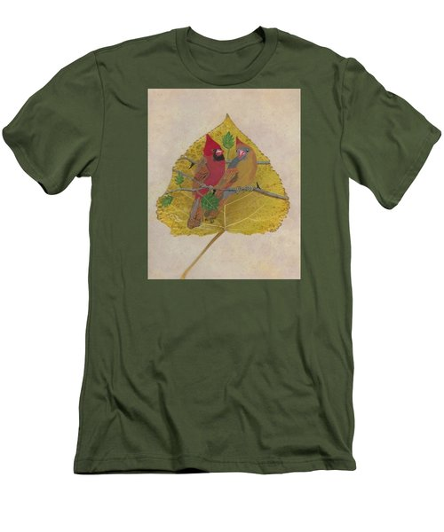 Pair Of Cardinals Men's T-Shirt (Slim Fit) by Ralph Root