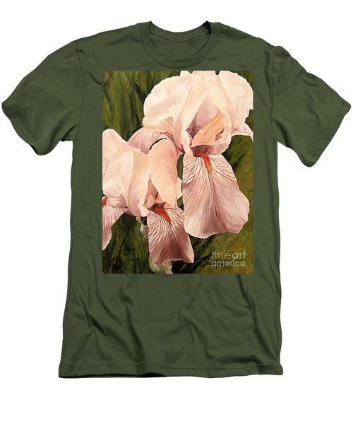 Pair Of Peach Iris  Men's T-Shirt (Slim Fit) by Laurie Rohner