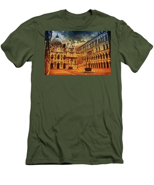 Men's T-Shirt (Athletic Fit) featuring the digital art Palace Painting by PixBreak Art