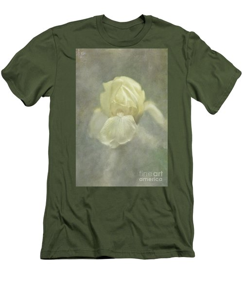 Men's T-Shirt (Athletic Fit) featuring the digital art Pale Misty Iris by Lois Bryan
