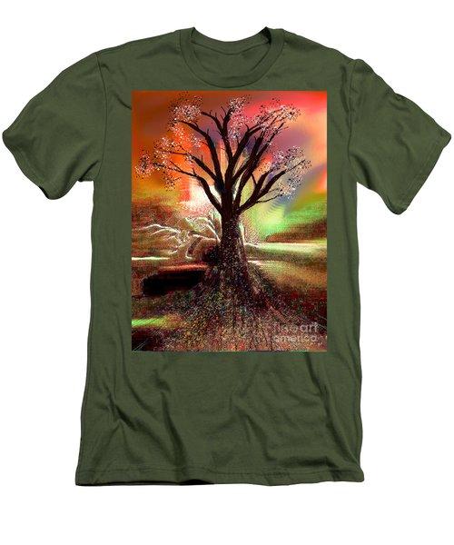 Men's T-Shirt (Slim Fit) featuring the digital art Pale Moonlight 2 by Yul Olaivar