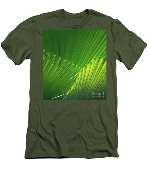 Palm Leaves Men's T-Shirt (Slim Fit) by Atiketta Sangasaeng
