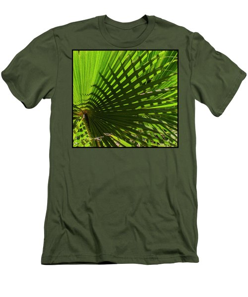 Men's T-Shirt (Athletic Fit) featuring the photograph Palm Pattern No.1 by Mark Myhaver