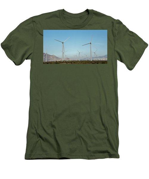 Palm Springs Windfarm Men's T-Shirt (Athletic Fit)