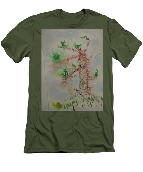 Palm Tree Men's T-Shirt (Slim Fit) by AJ Brown