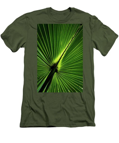 Palm Tree With Back-light Men's T-Shirt (Athletic Fit)